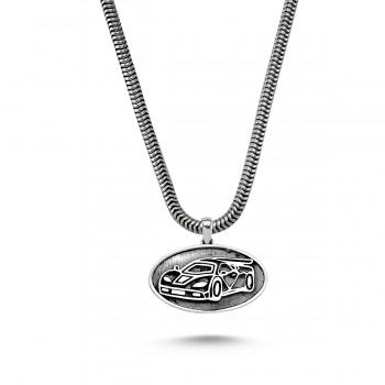 Yarış Arabası Erkek Gümüş Kolye MY01027