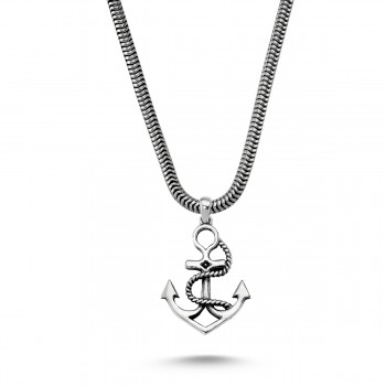 Gemi Çapası Erkek Gümüş Kolye MY01021