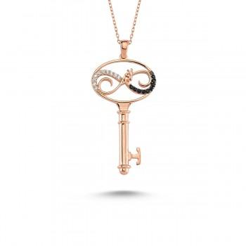 Aşkın Anahtarı Gümüş Kolye MY101126