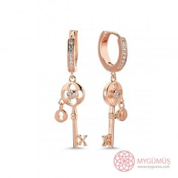 Anahtar Sallantılı Gümüş Küpe MYG30