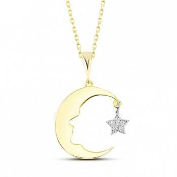 Atatürk Silueti Ay Yıldız Gümüş Kolye MY101342