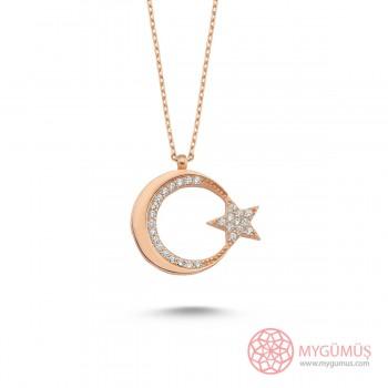 Ay Yıldız Argento Gümüş Kolye MY101663R