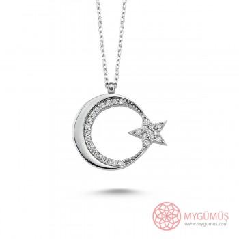 Ay Yıldız Argento Gümüş Kolye MY101663