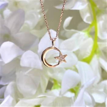 Ay Yıldız Gümüş Kolye MY102462