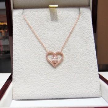 Baget Taşlı Kalp Gümüş Kolye MY102200