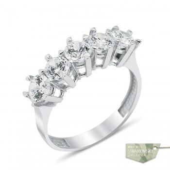 Zirkon Beştaş Gümüş Yüzük MY10018