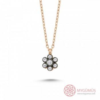 Çiçek Minimal Gümüş Kolye MY102100