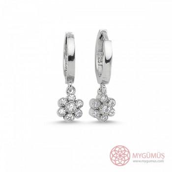 Çiçek Montürlü Gümüş Küpe MY102385