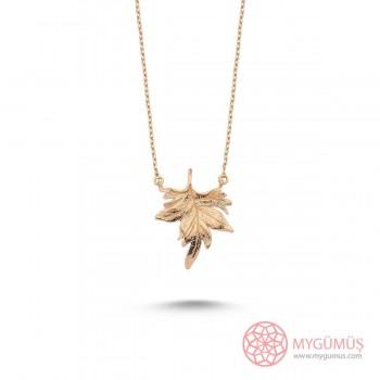 Çınar Yaprağı Gümüş Kolye MY101673