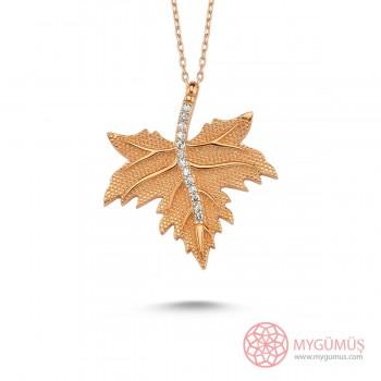 Çınar Yaprağı Gümüş Kolye MY101919