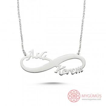 El Emeği Sosuzluk İki İsimli Gümüş Kolye MYK001017
