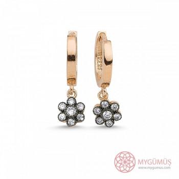 Elmas Montürlü Gümüş Küpe MY101293