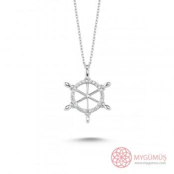 Gemi Dümeni Gümüş Kolye MY101493