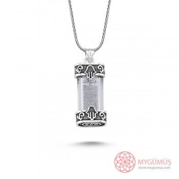 Yeni Model Cevşen Gümüş Kolye MY101407