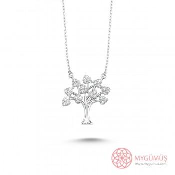Hayat Ağacı Gümüş Kolye MY101118