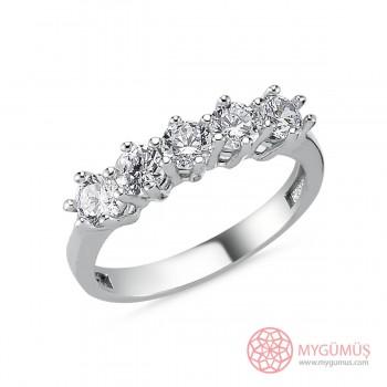 İnce Tasarım Beştaş Gümüş Yüzük MY101380