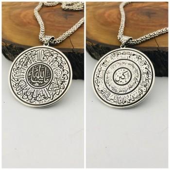 İsme Özel Çift Yönlü Gümüş Madalyon Kolye MY101862
