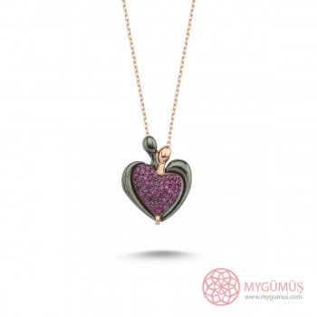 İsme Özel Kalp Amare Gümüş Kolye MY101786