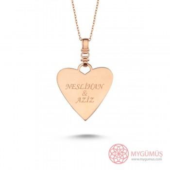 İsme Özel Kalp Gümüş Kolye MY101725