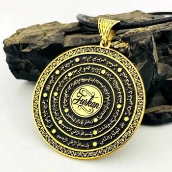 İsme Özel Nazar Dualı Gümüş Madalyon Kolye MY101869
