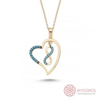 Kalbimin Sonsuzluğu Gümüş Kolye MY101254
