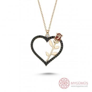 Kalbimin Gülü Gümüş Kolye MY101258