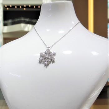 Kar Tanesi Gümüş Kolye MY100071