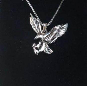 Kartal Figürlü Erkek Gümüş Kolye MY102086