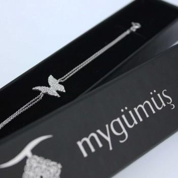 Kelebek Figürlü Gümüş Bileklik MY100065R