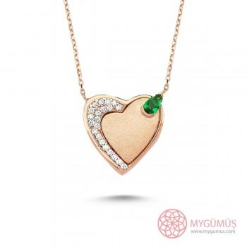 Mıknatıslı Kalp Gümüş Kolye MY101324