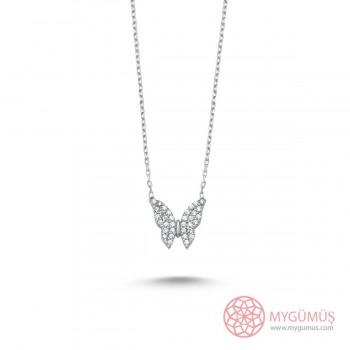 Minik Gümüş Kelebek Kolye MY101338