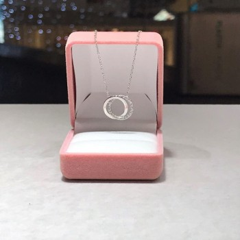 Minimal Taşlı Halka Gümüş Kolye MY102183