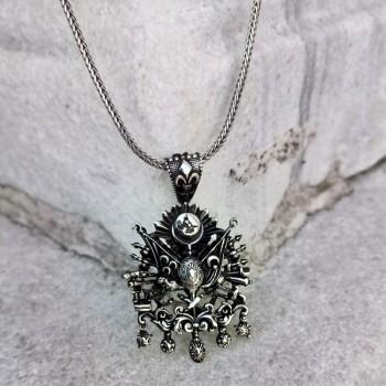 Osmanlı Armalı Gümüş Kolye MY101865