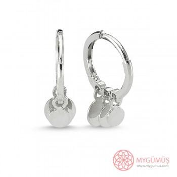 Özel Tasarım Halkalar Gümüş Küpe MY100108