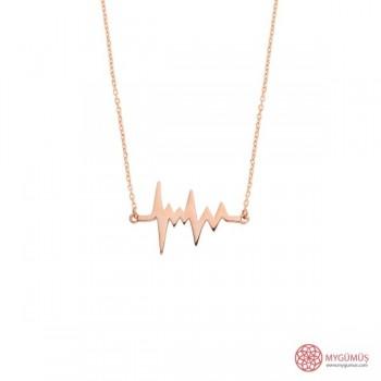 Kalp Atışı (Ritmi) Gümüş Kolye MY101368