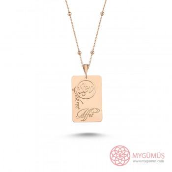 Sev Şükret Affet Yazılı Gümüş Kolye MY101733
