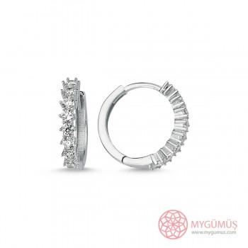 Sıralıtaş Halka Gümüş Küpe MYG09