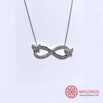 Sonsuzluk Kelebek Gümüş Kolye MY102060