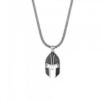 Savaşçı Zırhı Erkek Gümüş Kolye MY01039
