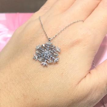 Tasarım Kar Tanesi Gümüş Kolye MY102133