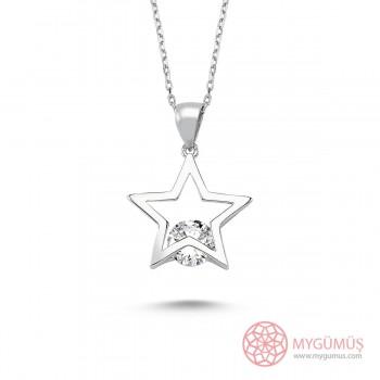 Tektaş Yıldız Gümüş Kolye MY101304