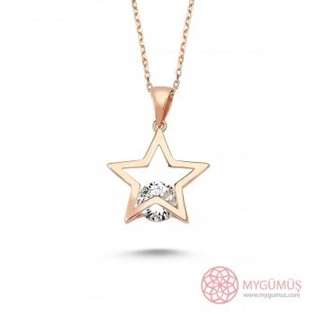Tektaş Yıldız Gümüş Kolye MY101303