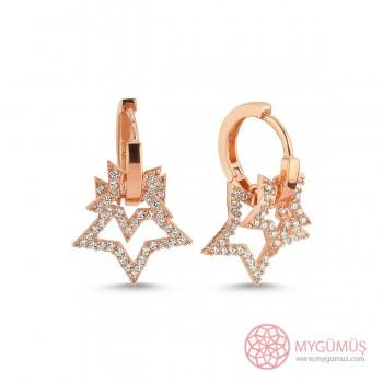 Yıldızlar Halka Gümüş Küpe MYG023