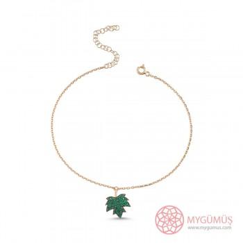 Çınar Yaprağı Gümüş Halhal MYH00110