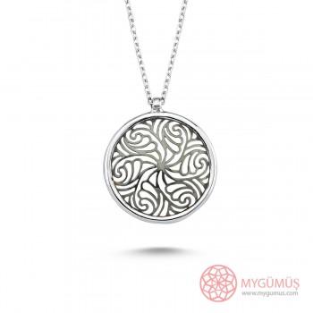 Yaşam Çiçeği Gümüş Kolye MY101852