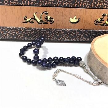 Yıldız Doğal Taşlı Gümüş Tesbih MY102120