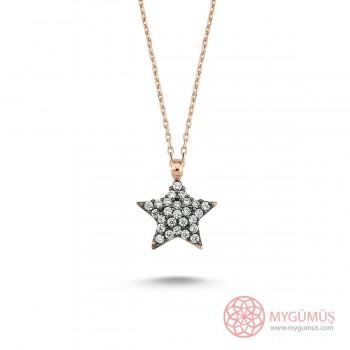 Elmas Montür Yıldız Gümüş Kolye MY101423