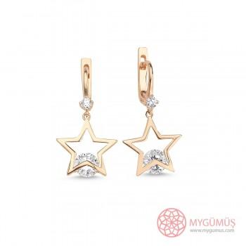 Yıldız Tektaş Gümüş Küpe MY101614