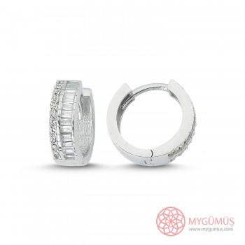 Zirkon Taşlı Özel Kesim Gümüş Küpe MYG050