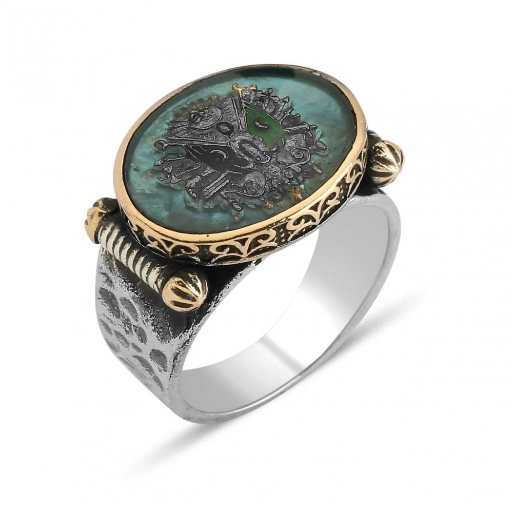 Osmanlı Tuğralı Erkek Gümüş Yüzük MY0604014 5561 Thumb